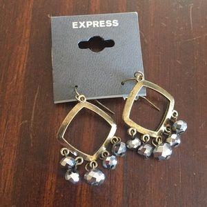Express Gold & Silver Chandelier Dangle Earrings